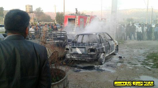 آتش گرفتن خودرو و کپسول