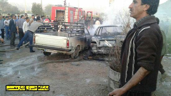 آتش گرفتن خودرو در نوراباد