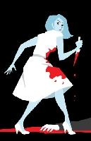 زن قاتل چاقو به دست